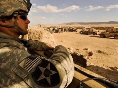 Ein US-Soldat in einem Militärlager in Afghanistan.