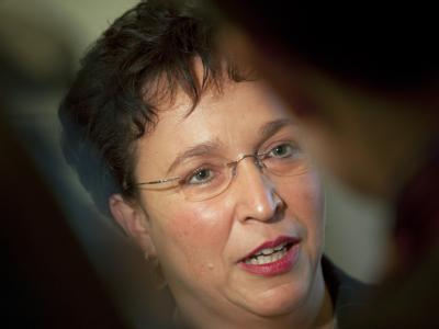 Die FDP-Fraktionsvorsitzende im Bundestag, Birgit Homburger. Die Freidemokraten bestehen auf die Gesundheitsprämie.