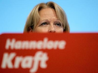 Hannelore Kraft Ende Februar ERNA beim SPD-Landesparteitag in Dortmund.