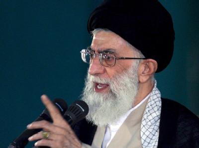 Oberster Führer des Irans und geistliches Oberhaupt: Ajatollah Ali Chamenei.