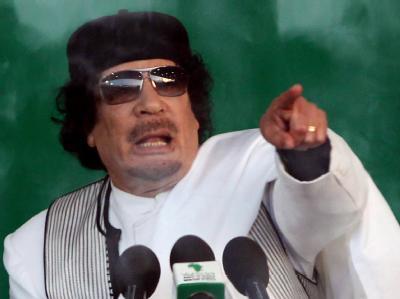 Libyens Revolutionsführer Gaddafi. Einer seiner Söhne war angeblich bei einem Luftangriff getötet worden. Die libysche Regierung hat dies nun dementiert.