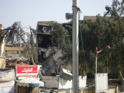 Ein bei den Kämpfen zerstörtes Haus in der Stadt Homs. Foto: Syrische Opposition/Local Coordination Committes (LCC)