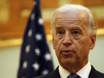 US-Vizepräsident Joe Biden während seines Besuchs in Bagdad.