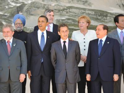 Teilnehmer des Gipfels beim traditionellen