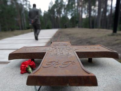 Gedenken in Katyn