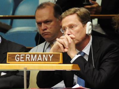Außenminister Guido Westerwelle (FDP) im September 2010 während der Generalversammlung der Vereinten Nationen in New York.