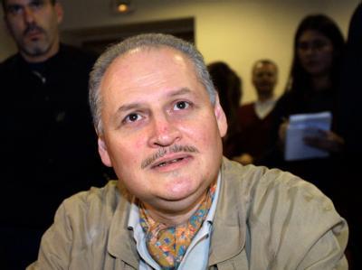Der einstige venezuelanische Top-Terrorist  Illich Ramirez Sanchez alias «Carlos» im Jahr 2000 in einem Pariser Gerichtssaal. Foto: Thomas Coex
