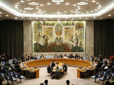 Der UN-Sicherheitsrat bei einer Dringlichkeitssitzung. (Archivfoto)