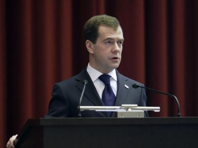 Kremlchef Medwedew: Atomwaffen sind Russlands Garantie für eine unabhängige Politik.