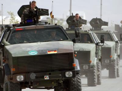 Bundeswehr-Konvoi im afghanischen Kundus. (Archiv- und Symbolbild)