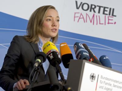 Bundesfamilienministerin Kristina Schröder bei einer Pressekonferenz in ihrem Ministerium.