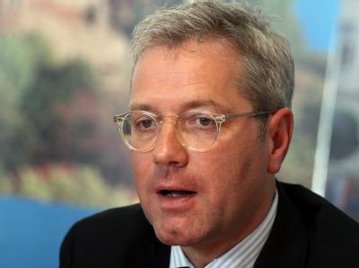 Norbert Röttgen bei der Bekanntgabe seiner Kandidatur für die NRW-Wahl. Foto: Oliver Berg