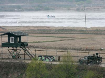 Blick auf einen Teil innerkoreanischen Grenze. Ein US-Bürger soll die Grenze illegal überquert haben.