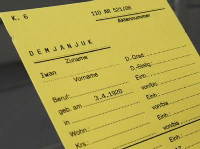 Karteikarte im Fall Demjanjuk