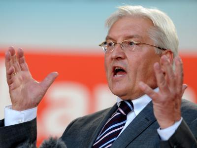 Der SPD Kanzlerkandidat Frank-Walter Steinmeier Berlin setzt auf die noch unentschlossenen Wähler.