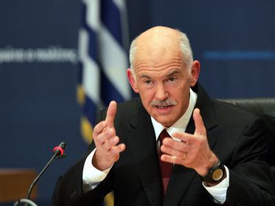 Griechenlands Regierungschef Papandreou (Archivbild) trifft Bundeskanzlerin Merkel.
