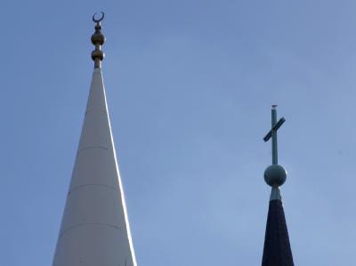 Moschee und Kirche
