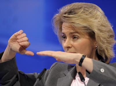 Ursula von der Leyen: «Ich bin gegen eine Erhöhung der Geldleistungen, also dass einfach mehr Geld an die Familien überwiesen wird».