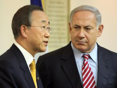 Ban Ki Moon und Netanjahu