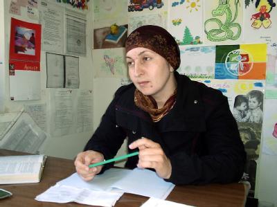 Die Bürgerrechtlerin Sarema Sadulajewa, hier im Jahr 2004, wurde mit ihrem Mann ermordet.