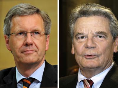 Kandidaten für das Amt des Bundespräsidenten: Christian Wulff (CDU) und Joachim Gauck (r).