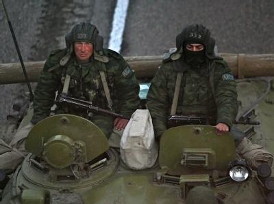 Russische Soldaten in einer