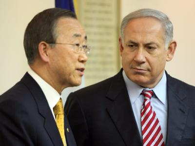 UN-Generalsekretär Ban Ki Moon, hier im März mit Israels Regierungschef Netanjahu, hofft auf