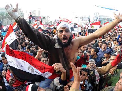 Demonstranten auf dem Tahrir-Platz in Kairo nach dem Freitagsgebet der vergangenen Woche. Foto: Mohamed Omar