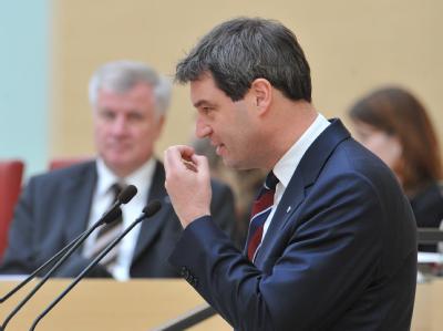Der bayerische Gesundheitsminister Markus Söder im Bayerischen Landtag in München.