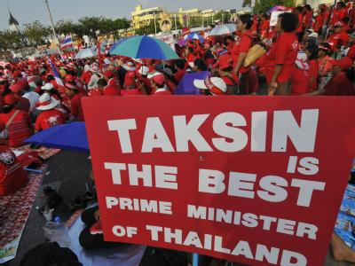 Anhänger der Opposition bei einer Veranstaltung in Bangkok.