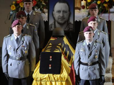 Trauerfeier für getötete Soldaten