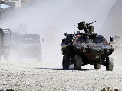 Türkische Soldaten während einer Patrouillenfahrt im Südosten des Landes.