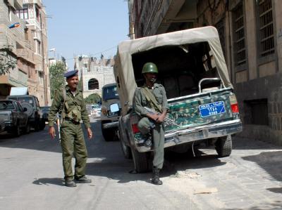 Jemenitische Soldaten bei einer Patrouille in der Hauptstadt Sanaa.