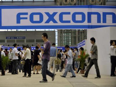 Beim Elektronik-Hersteller Foxconn, hier ein Stand bei einer Jobbörse, gibt es eine Serie von Selbstmorden.