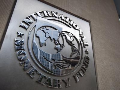 Das Logo des Internationale Währungsfonds an dessen Hauptsitz in Washington. Archivfoto: Jim Lo Scalzo