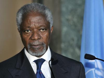 Kofi Annan ist Sonderbeauftragter der Vereinten Nationen für Syrien. Foto: Martial Trezzini