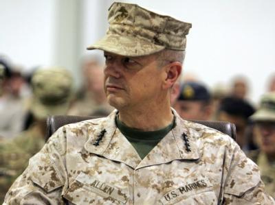 US-General Allen rechnet für die kommenden Monate mit schweren Gefechten im Osten Afghanistans. Foto: epa/str