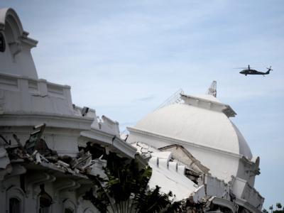 Zerstörter Präsidentenpalast