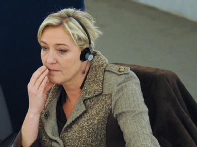 Marine Le Pen am 15. Februar bei einer Sitzung im Europaparlament. Foto: Patrick Seeger