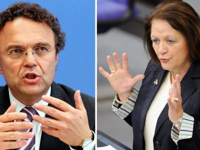 Bundesinnenminister Hans-Peter Friedrich und Bundesjustizministerin Sabine Leutheusser-Schnarrenberger.