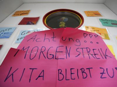 Der Kita-Streik geht auch heute weiter.