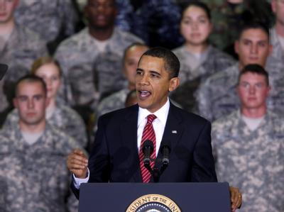 Barack Obama am Donnerstag bei einer Rede vor US-Soldaten in Südkorea.
