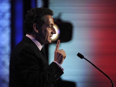 Frankreichs Regierungschef Sarkozy. Anders als Berlin befürwortet Paris einen OECD-Vorschlag nach einem Billionen-Schutzwall um die Eurozone. Foto: Yoan Valat