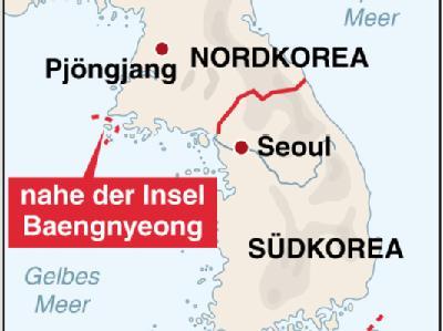 Nahe der Insel Baengnyeong ist ein südkoreanisches Kriegsschiff gesunken.