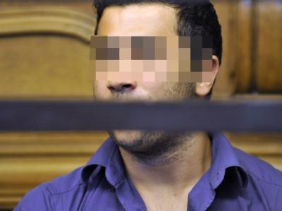 Der Angeklagte Mustafa U. im Gericht.