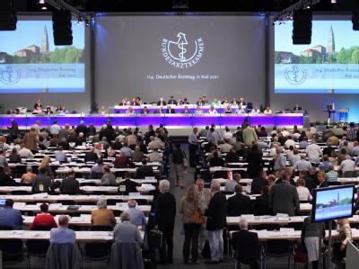 Blick in eine Sitzung 114. Deutschen Ärztetages im Juni vergangenen Jahres. Foto: Bodo Marks