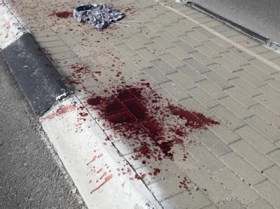 Blut am Straßenrand nach einem Anschlag in Jerusalem. (Archivbild vom März 2011)