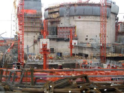 Die Aufnahme vom April 2008 zeigt die damalige Baustelle des Atomkraftwerks im finnischen Olkiluoto.