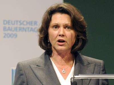 Bundeslandwirtschaftsministerin Ilse Aigner Anfang Juli beim Deutschen Bauerntag in Stuttgart.