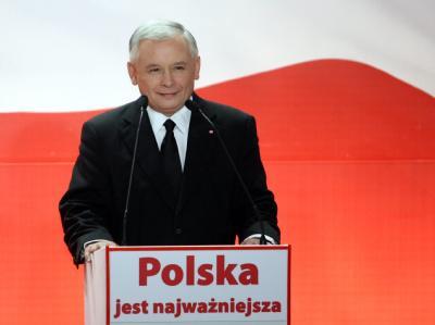 Jaroslaw Kaczynski (Archivbild) kann laut Umfrage mit 49 Prozent rechnen.